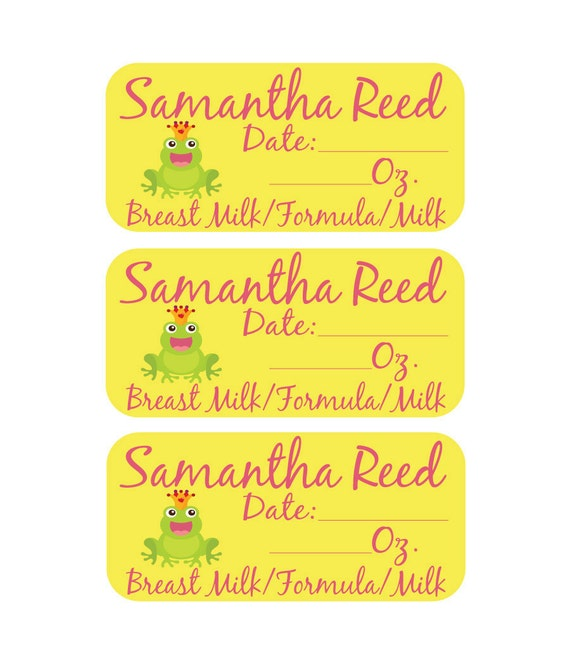 108 Removable (Single Use) Waterproof Custom Daycare Labels - Perfect for keeping track of bottles going to daycare
