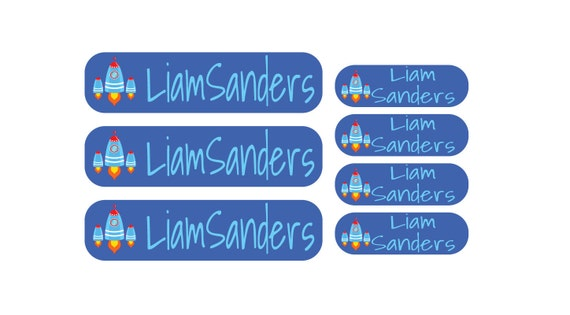 2 of our Most Personalized Dishwasher Safe Labels for 1 low Premium Label Package Price- 21 LARGE rectangles & 44 Petite Labels