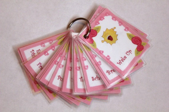 1 Additional Childrens or Toddlers Custom Chore Card For The Girls or Boys Keyring Set
