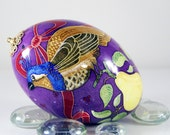 Partridge In Pear Tree Christmas Ornament Goose  pysanky Egg, pysanka SPECIAL ORDER ONLY