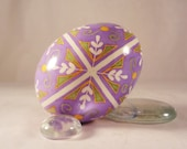 Chicken Pysanky  Lavender Cross and Pussy Willow