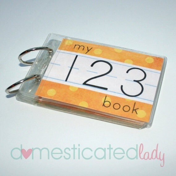 Printable 123 Book, Learn Your Numbers, digital pdf file