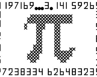 Long Live Pi  Cross Stitch Pattern In Honor of Pi Day