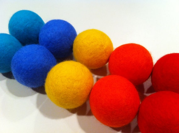 Scented Dryer Balls- Set of 10 It's Still Summer Colors