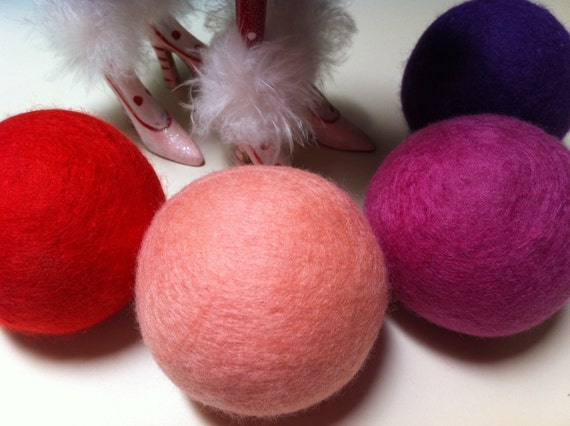 Wool Dryer Balls, Little Red Riding Hood, 4 Housewares, Can Be Scented