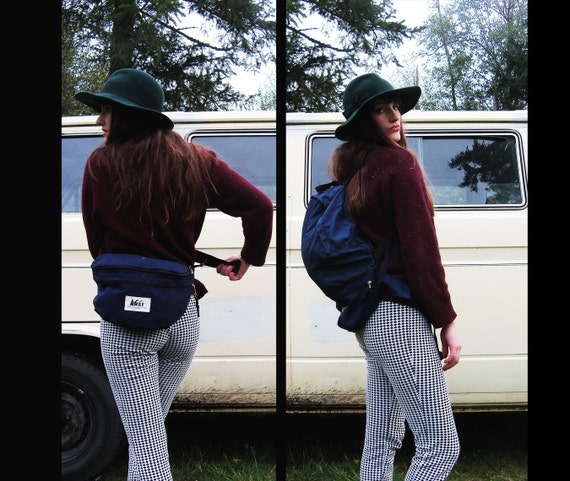 FREE SHIPPING 80s vtg REI Convertible Camping Backpack Rucksack Fanny Pack