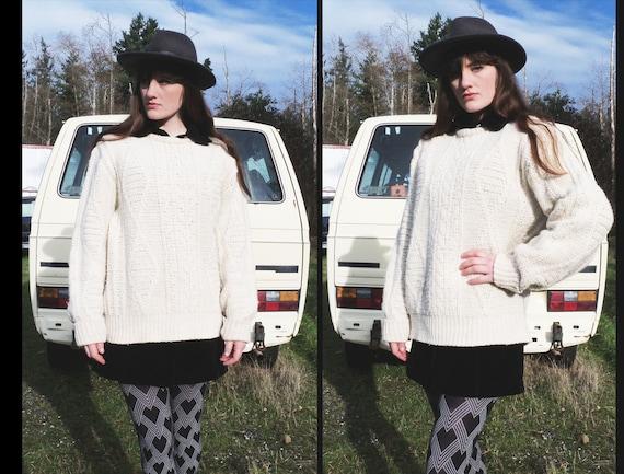 vtg PENDLETON Wool Fisherman Cable Sweater, Men's XL