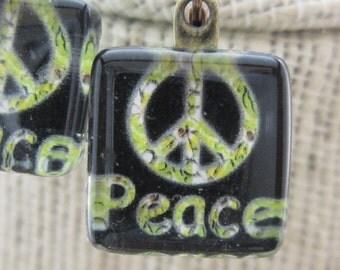 Tiny Peace Sign Earrings