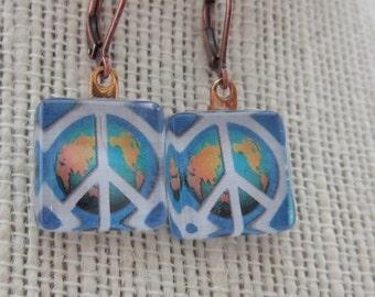 Tiny Peace Planet Earrings