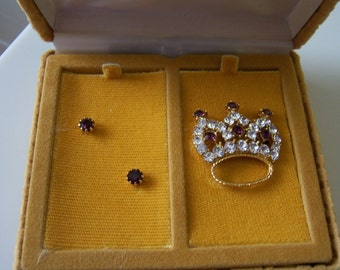Pin and Earring set by Jeweline Originals 1950s