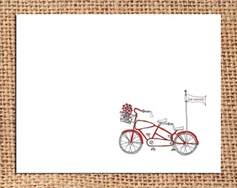 Bicycle - Just Married - Thank You Card