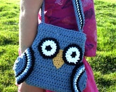 Crochet Owl Purse, small size for toddler or girl