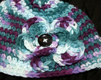 Girls Flower Hat custom color and size