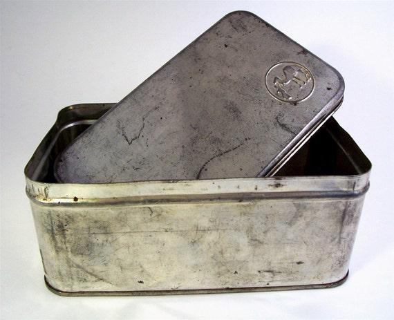 Cake Mix Tin Box, Vintage Dromedary Dixie Mix Collectible