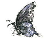 butterfly watercolor giclee print // PURPLE BUTTERFLY / 8.5x11 / art print / home decor