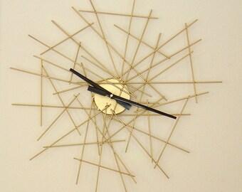 Pick-Up-Sticks Metal Wall Clock