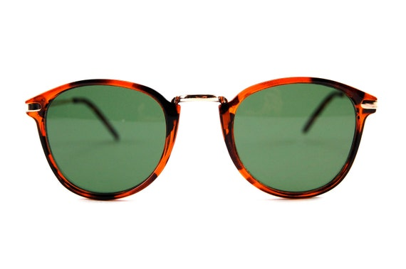 Vintage Tortoise Round Clubmaster Sunglasses