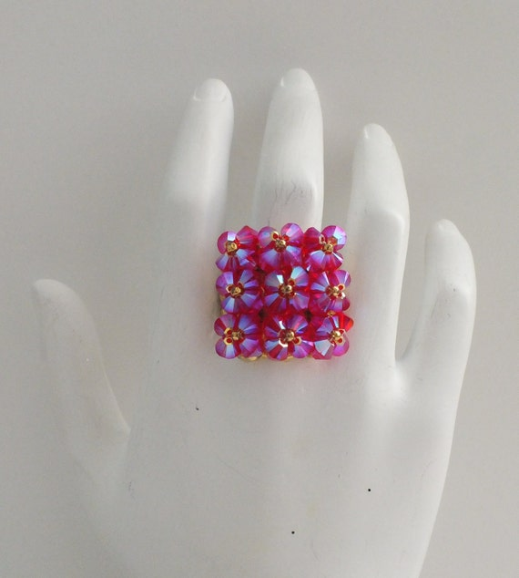 Big crystal bling ring