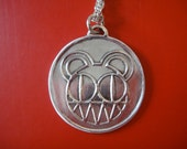 Radiohead Bear necklace, .999 fine silver - Charity JUVENILE DIABETES FOUNDATION