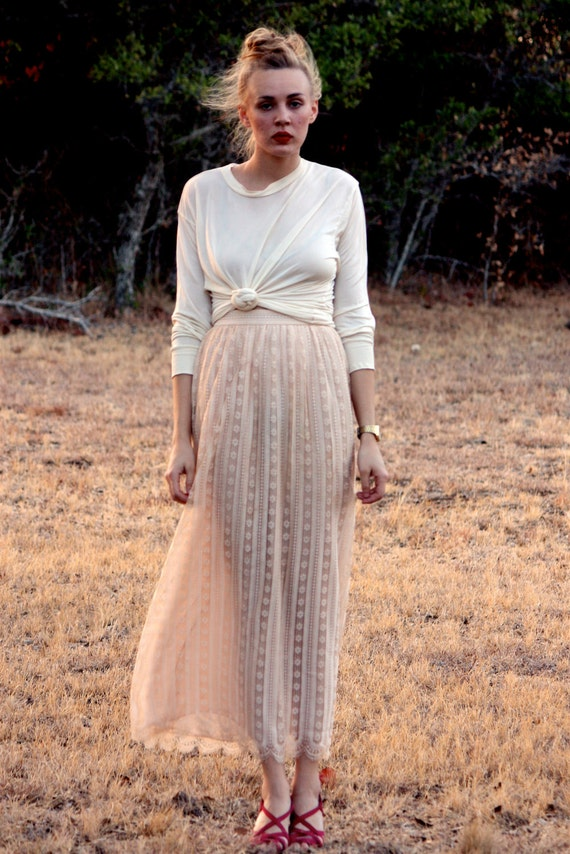 Vintage Oscar De La Renta Lace Skirt