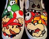 Paper Mario Custom Vans 9UK 10US MENS