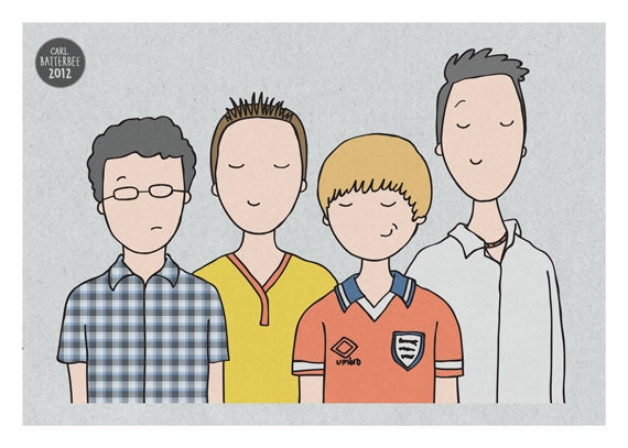 The Inbetweeners - Illustration Print