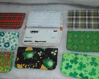 Decorative Fabric Checkbook Cover