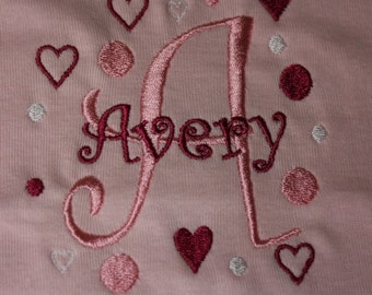Personalized Fleece Baby Girl Blanket - Embroidered  42
