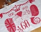 Queen's Diamond Jubilee tea towel to mark 60 years on the throne
