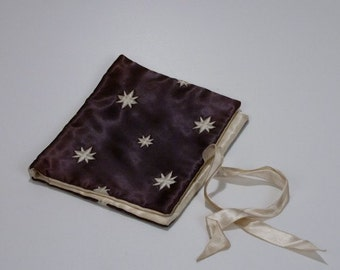 Vintage Silk Embroidered Stars Book Cover