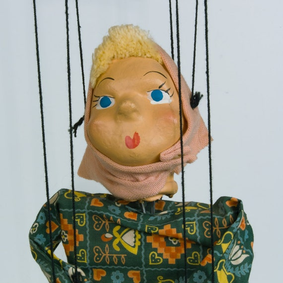 Vintage Patty the Marionette: The New Skating Sensation 1950s String Puppet