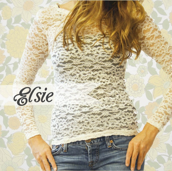 Elsie // Vintage Lace Shirt
