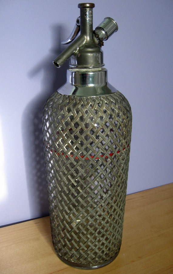 vintage barware soda siphon collectible home decor