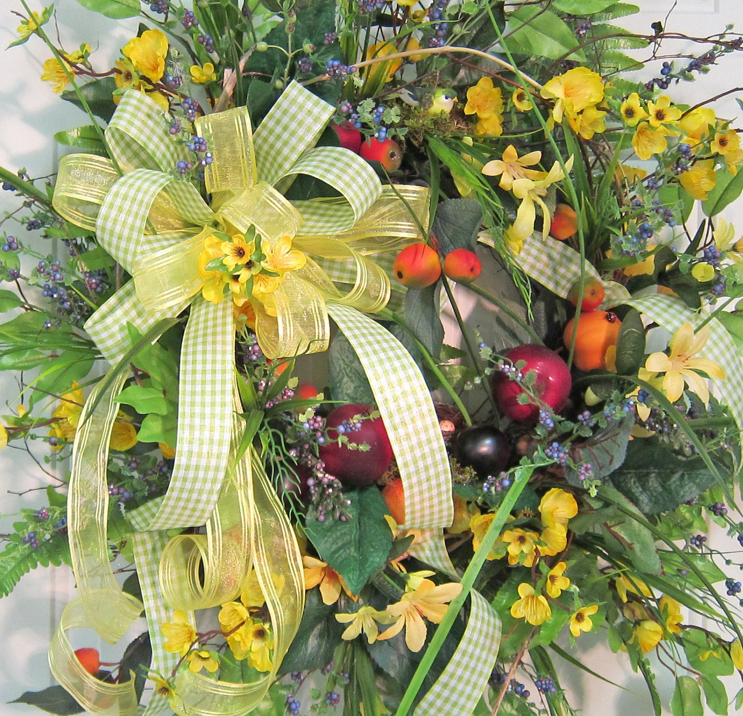 Extra Bright & Beautiful Front Door Wreath by
