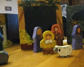 ONE OF A KIND wooden creche sets