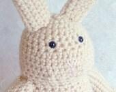"Crochet stuffed animals - tan bunny rabbit - 12"" tall"