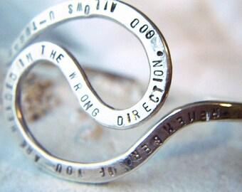 Argentium Sterling Cuff Bracelet/ U-Turn