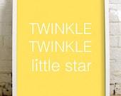Twinkle Twinkle Little Star - Baby - 11x14 print