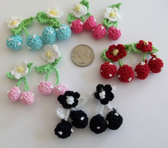 Colorful Crochet Cherry
