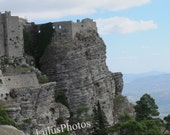 Landscape Photography, Views of the Fortress in Erice Sicily