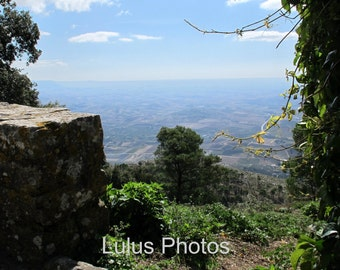 Landscape Photography, Views from Erice Sicily, Personalized Cards and Prints