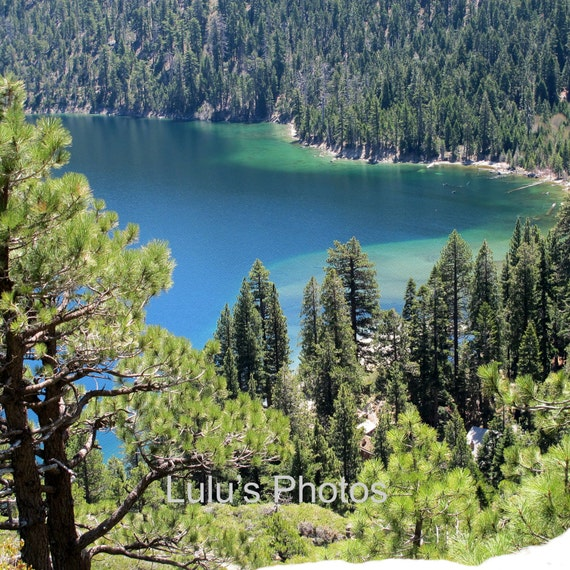 Emerald Bay Lake Tahoe, Landscape Photography, Note Cards, Photo Mat Cards and Prints
