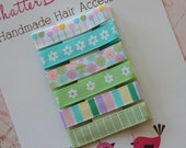Baby Hair Clips Everyday Alligator Clips Spring Flowers Toddler Hair Clips Girls Hair Clips