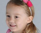 Felt Flower Headband Pink Roses for Baby Toddler and Girls