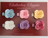 Baby Hair Clips Baby Barrettes Toddler Hair Clips Girls Hair Clips Pastel Rose Hair Clips