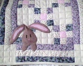 Lavenders, Blues and Bunnies Table Topper