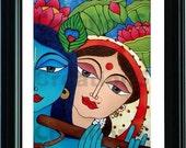 Radha Krishna - A Divine Love - PRINT