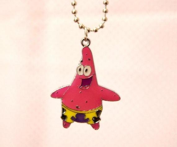 Patrick Star Spongebob Pendant Necklace Fun Dork Cute Nerd