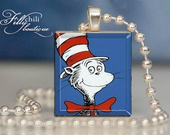 Unavailable listing on etsy for Cat in the hat jewelry