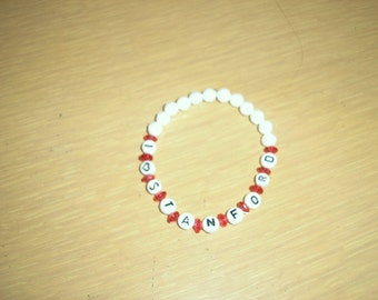 Team Spirit Bracelet/You choose college or school and colors/this one for Stanford College